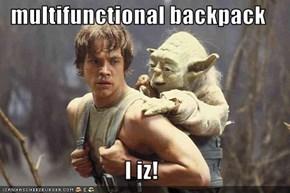 multifunctional backpack  I iz!