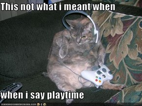 This not what i meant when  when i say playtime
