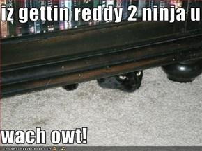 iz gettin reddy 2 ninja u  wach owt!