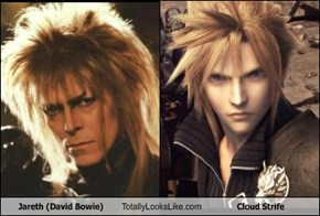 Jareth (David Bowie) Totally Looks Like Cloud Strife