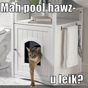 Mah pool hawz-  u leik?