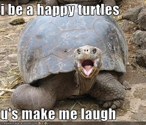 i be a happy turtles  u's make me laugh