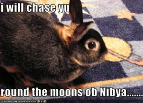 i will chase yu   round the moons ob Nibya.......