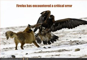 Firefox has encountered a critical error