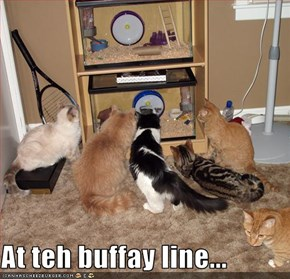 At teh buffay line...