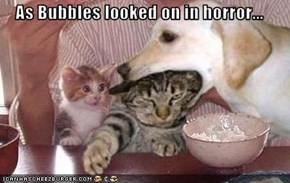 As Bubbles looked on in horror...