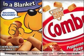 Snausages dog treats Totally Looks Like Combos pizza snacks