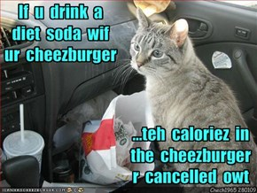 Kittehz diet rulez...