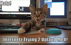 Halp!  Internetz Trying 2 Uplaod Meh!