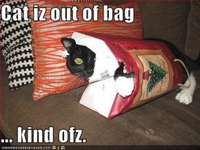Cat iz out of bag  ... kind ofz.