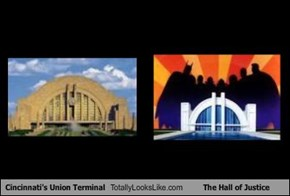 Cincinnati's Union Terminal Totally Looks Like The Hall of Justice