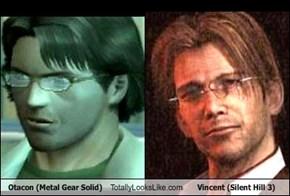 Otacon (Metal Gear Solid) Totally Looks Like Vincent (Silent Hill 3)