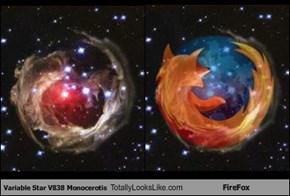 Variable Star V838 Monocerotis Totally Looks Like FireFox