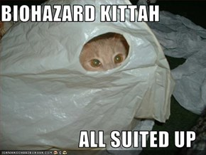 BIOHAZARD KITTAH  ALL SUITED UP