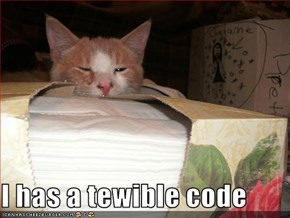 I has a tewible code