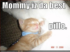 Mommy iz da best pillo.