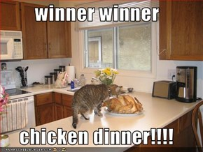 winner winner  chicken dinner!!!!
