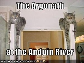 The Argonath  at the Anduin River