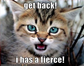 get back!  i has a fierce!