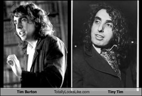 Tim Burton Totally Looks Like Tiny Tim