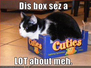 Dis box sez a  LOT about meh.