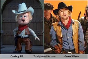 Cowboy Elf Totally Looks Like Owen Wilson