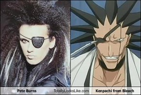 Pete Burns Totally Looks Like Kenpachi from Bleach