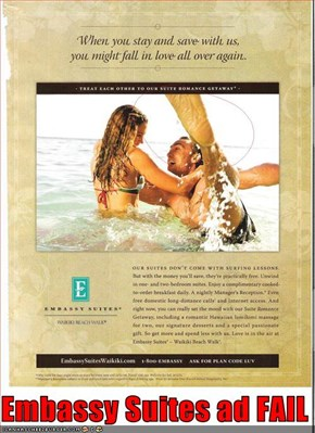 Embassy Suites ad FAIL