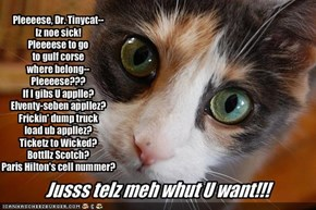 Pleeeese, Dr. Tinycat--