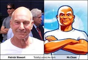 Patrick Stewart Totally Looks Like Mr.Clean