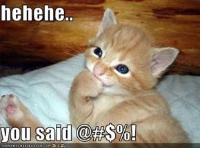 hehehe..  you said @#$%!