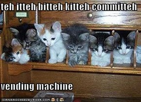 teh itteh bitteh kitteh committeh  vending machine