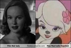 Film Noir lady Totally Looks Like Miss Mam'selle Hepzibah