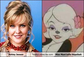 Ashley Jensen Totally Looks Like Miss Mam'selle Hepzibah