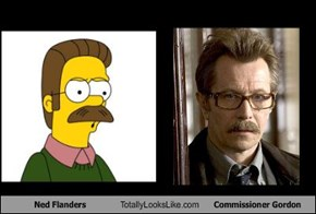 Ned Flanders Totally Looks Like Commissioner Gordon