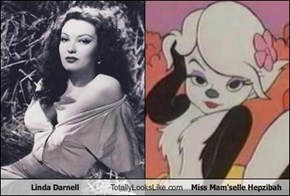 Linda Darnell Totally Looks Like Miss Mam'selle Hepzibah