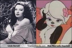 Linda Darnell Totally Looks Like Miss Mam'selle Hepzibah