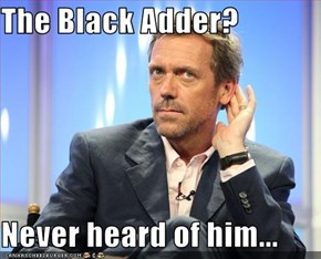 The Black Adder?  Never heard of him...