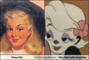 Pinup Girl Totally Looks Like Miss Mam'selle Hepzibah