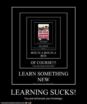 LEARNING SUCKS!
