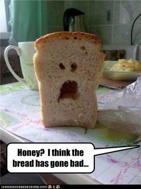 Honey?  I think the bread has gone bad...