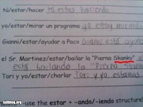 Spanish Fail