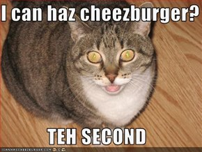 I can haz cheezburger?  TEH SECOND