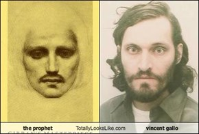 the prophet Totally Looks Like vincent gallo