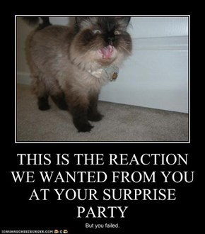 THIS IS THE REACTION WE WANTED FROM YOU AT YOUR SURPRISE PARTY