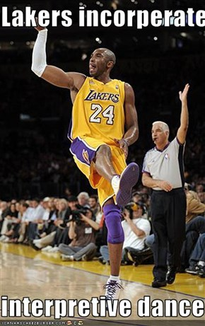 Lakers incorperate  interpretive dance.