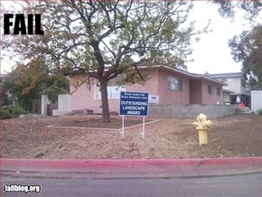 Landscaping Fail