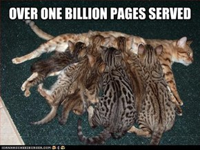 OVER ONE BILLION PAGES SERVED
