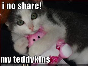 i no share!  my teddykins