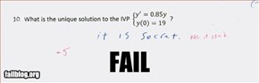 Calculus Answer Fail